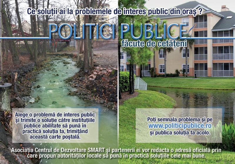 Carte postala pentru promovarea platformei de participare www.politicipublice.ro