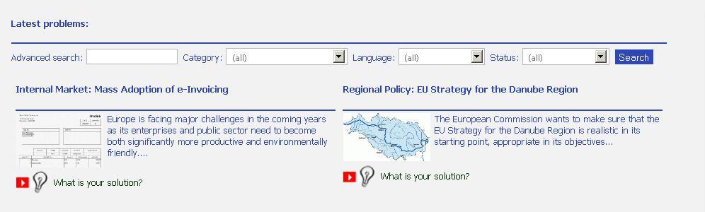 Primele doua probleme de interes public european pe www.public-policies.eu