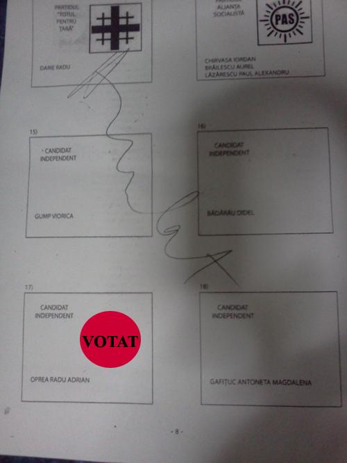 Buletin de vot la Consiliul Local Galati